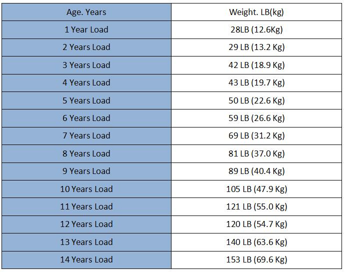 Static strength test load